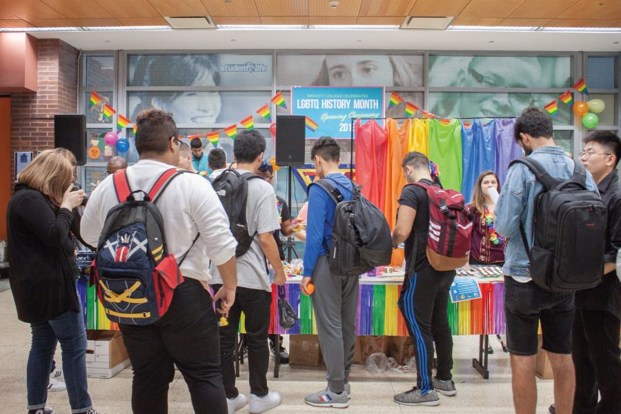 Cayla Monzon | The TickerOn Oct. 3, Baruch College's Newman Vertical Campus played host to the LGBTQ+ History Month's opening ceremony event, allowing students to win prizes while learning about issues affecting the community.