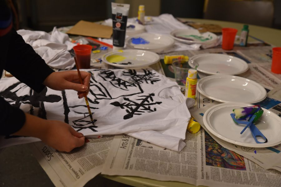 Joel C. Bautista | The TickerStudents were given white and black t-shirts as their blank canvases to make whatever they wanted, using materials such as fabric, markers and paint for the designs.