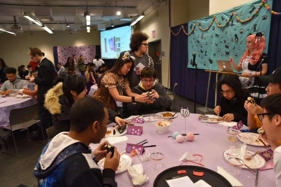 Noah Fleischman | The TickerStudents dressed as butlers and maids serve students drinks, meals and desserts while wearing typical maid cafe attire.