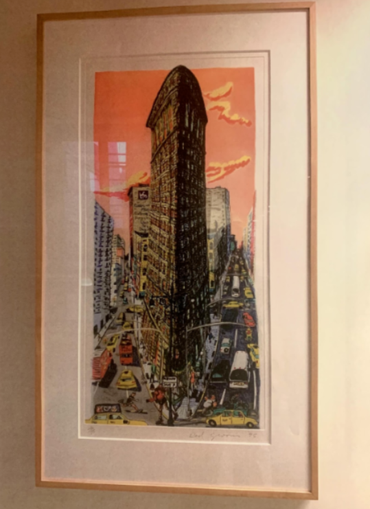 Red Grooms, Flatiron Building, Color etching 1995.Image courtesy of Marie Angeletti