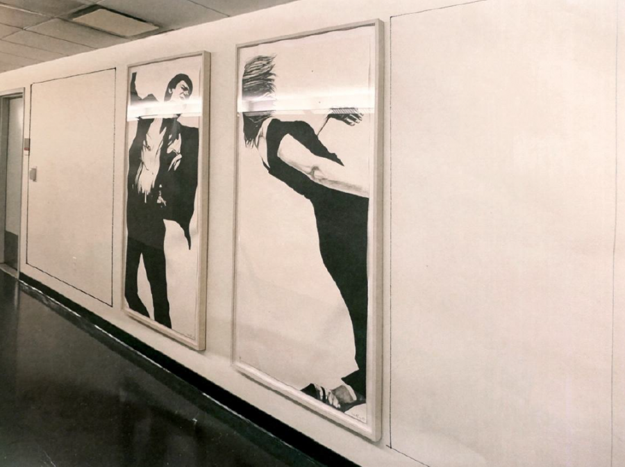Robert Longo, Joanna and Larry, from Men in the Cities, two lithographs, 1983Image courtesy Marie Angeletti